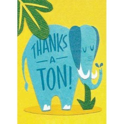 Good Paper Thanks A Ton Thank You Card