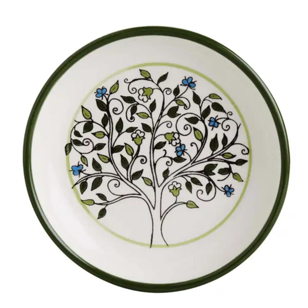 Ten Thousand Villages Tree of Life Ceramic Dish