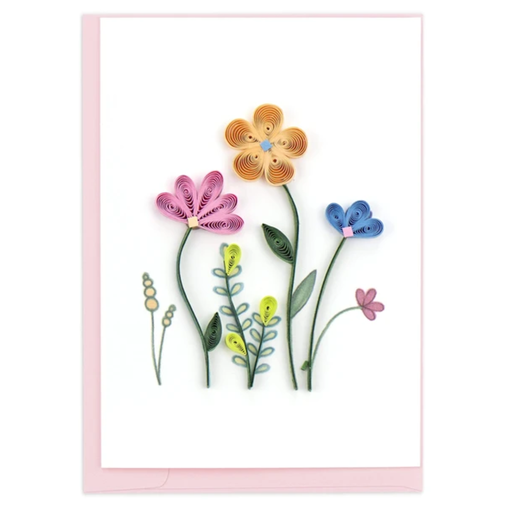 Quilling Card Wildflower Quilled Gift Enclosure Card