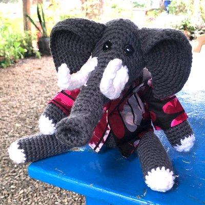Creation Hive Crocheted Elephant Stuffed Animal