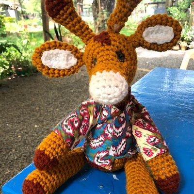 Creation Hive Crocheted Giraffe Stuffed Animal