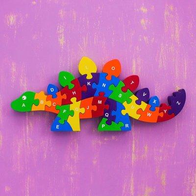 Mr Ellie Pooh Wooden Puzzle Stegosaurus