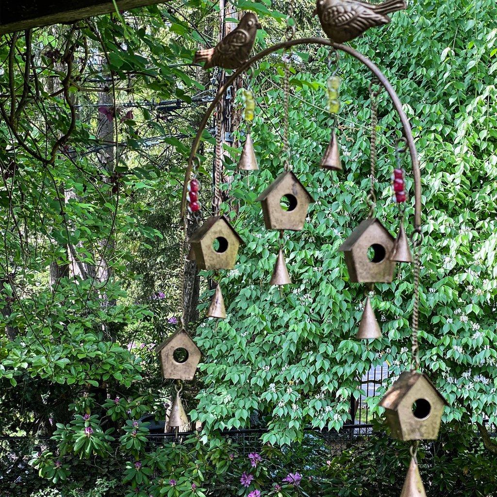 Global Crafts Metal Birdhouse Chime