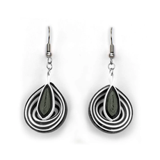 Quilling Card Black Illusion Quilled Earrings
