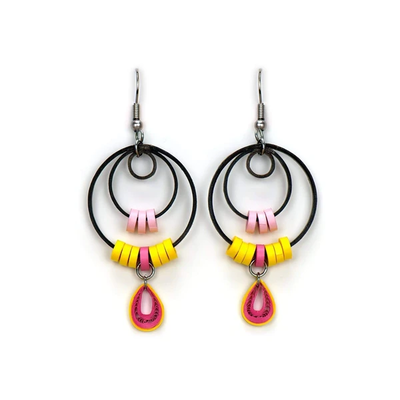 Quilling Card Hula Hoop Quilled Earrings