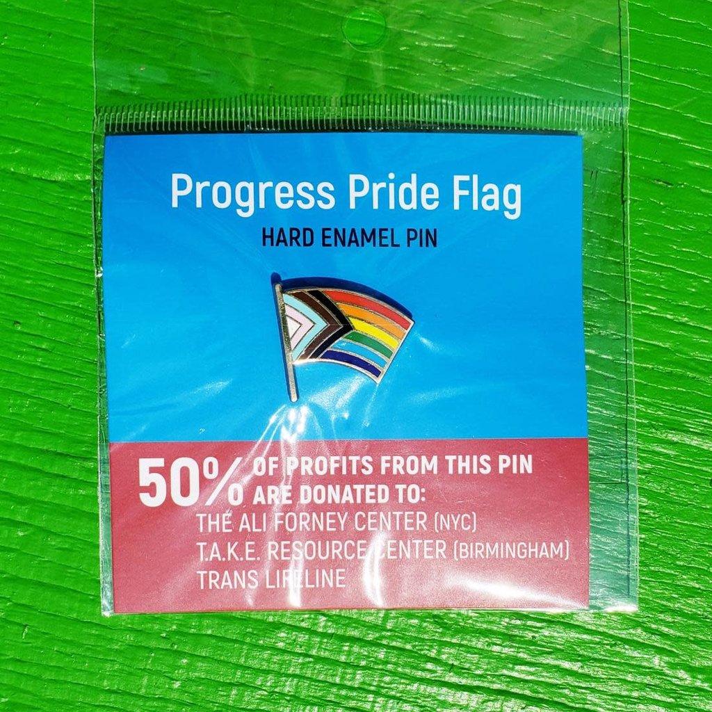 Microcosm Progress Pride Flag Hard Enamel Pin