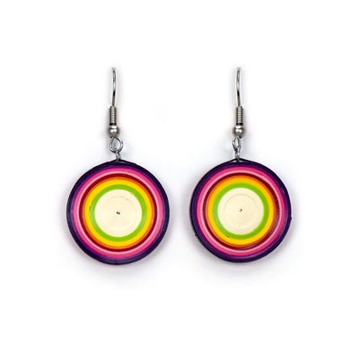 Quilling Card Rainbow Lollipop Quilled Earrings