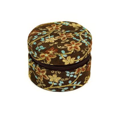 Minga Imports Small Zippered Jewelry Box Brown