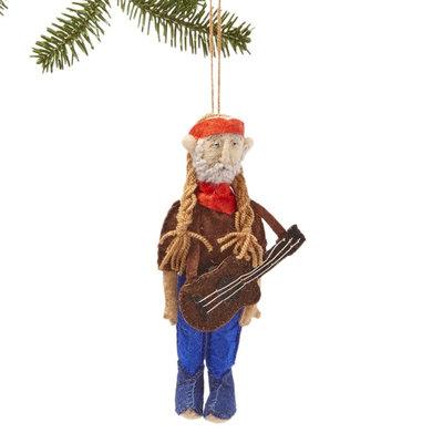 Silk Road Bazaar Willie Nelson Felt Ornament