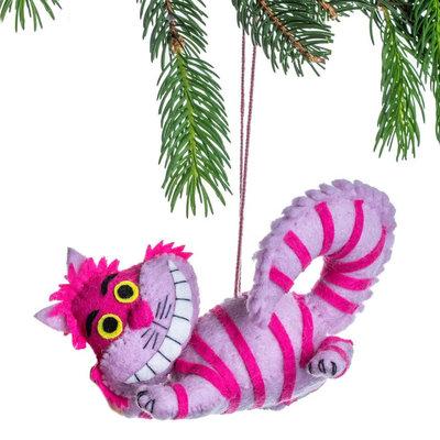 Silk Road Bazaar Cheshire Cat Felt Ornament