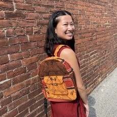 Ganesh Himal Small Cotton Striped Backpack