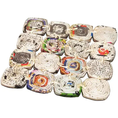 Ten Thousand Villages Recycled Newspaper Trivet