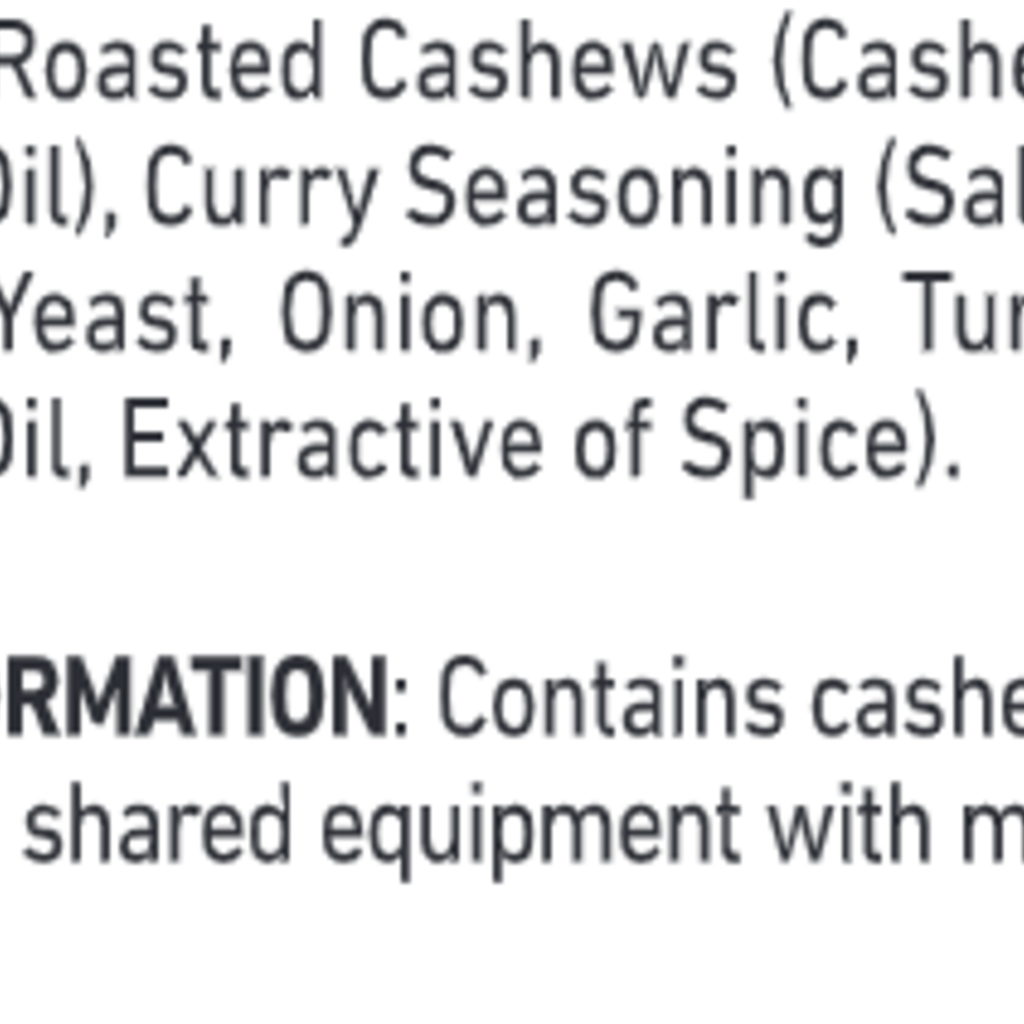 Women's Bean Project Thai Curry Cashews