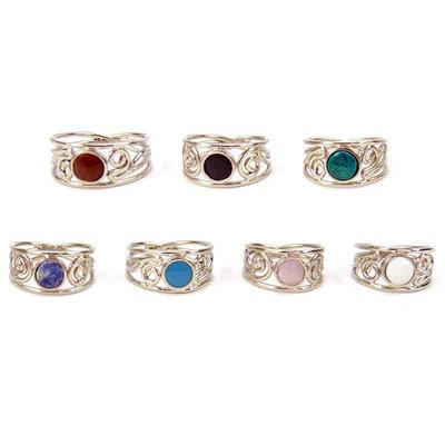 Minga Imports Ornate Alpaca Ring