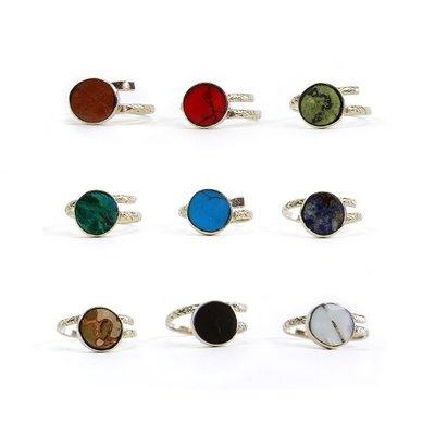 Minga Imports Stone Labrado Alpaca Ring