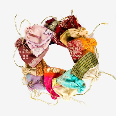 Matr Boomie Sari Drawstring Pouch