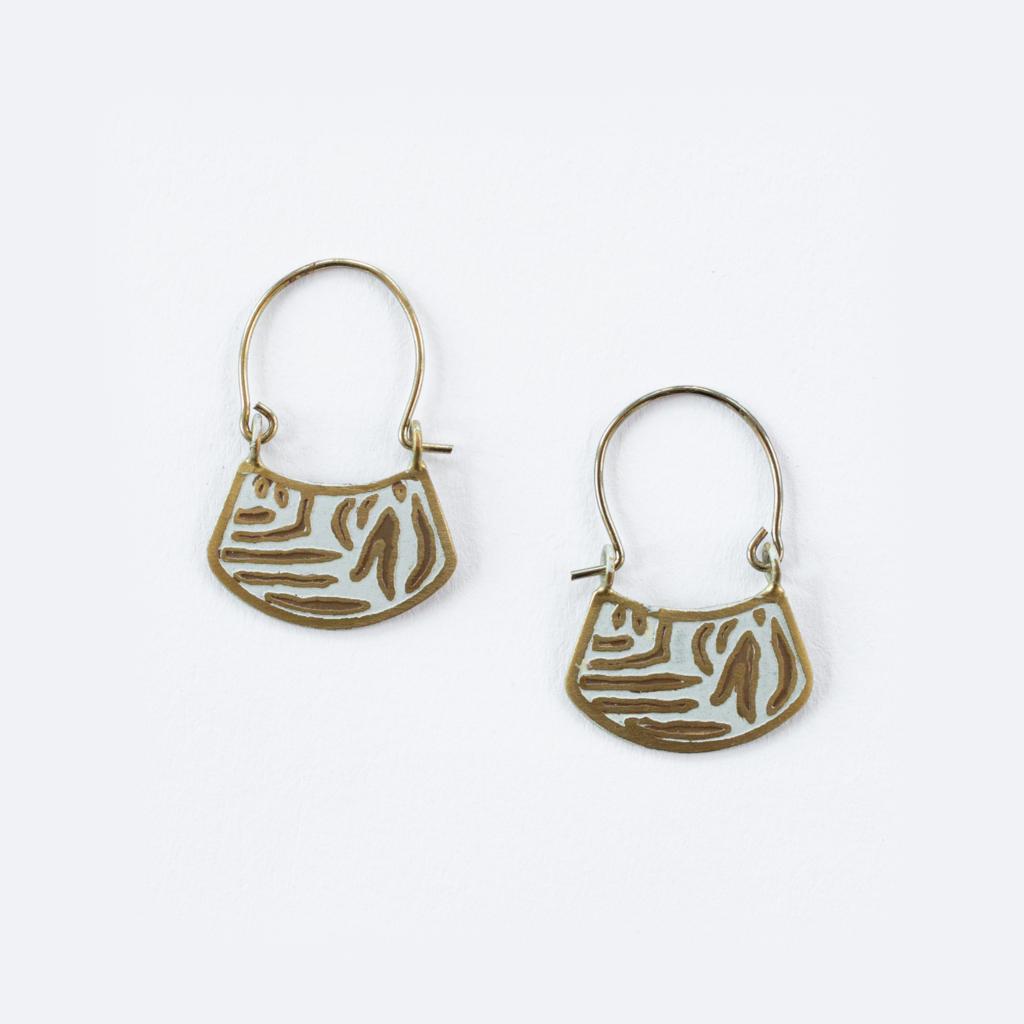 Mata Traders Arusha Brass Earrings