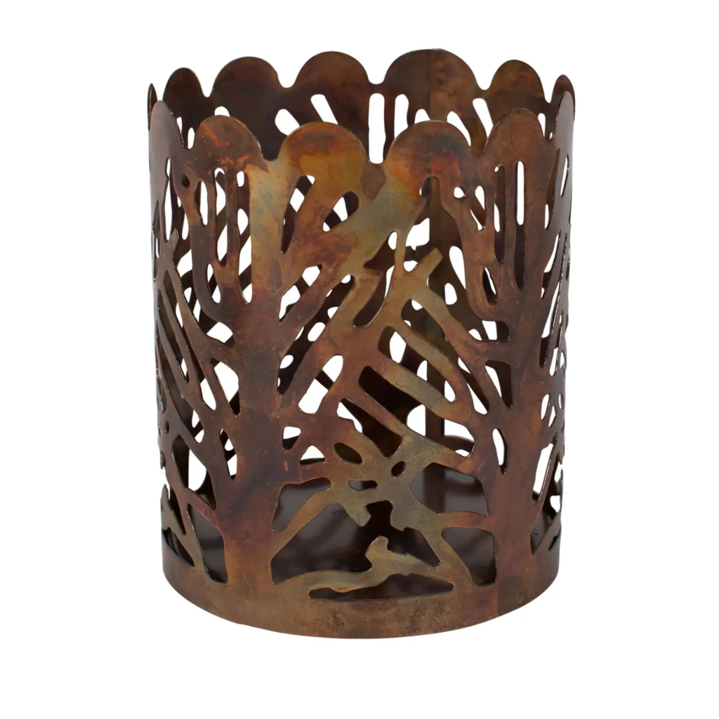 Ten Thousand Villages Forest Large Candle Holder