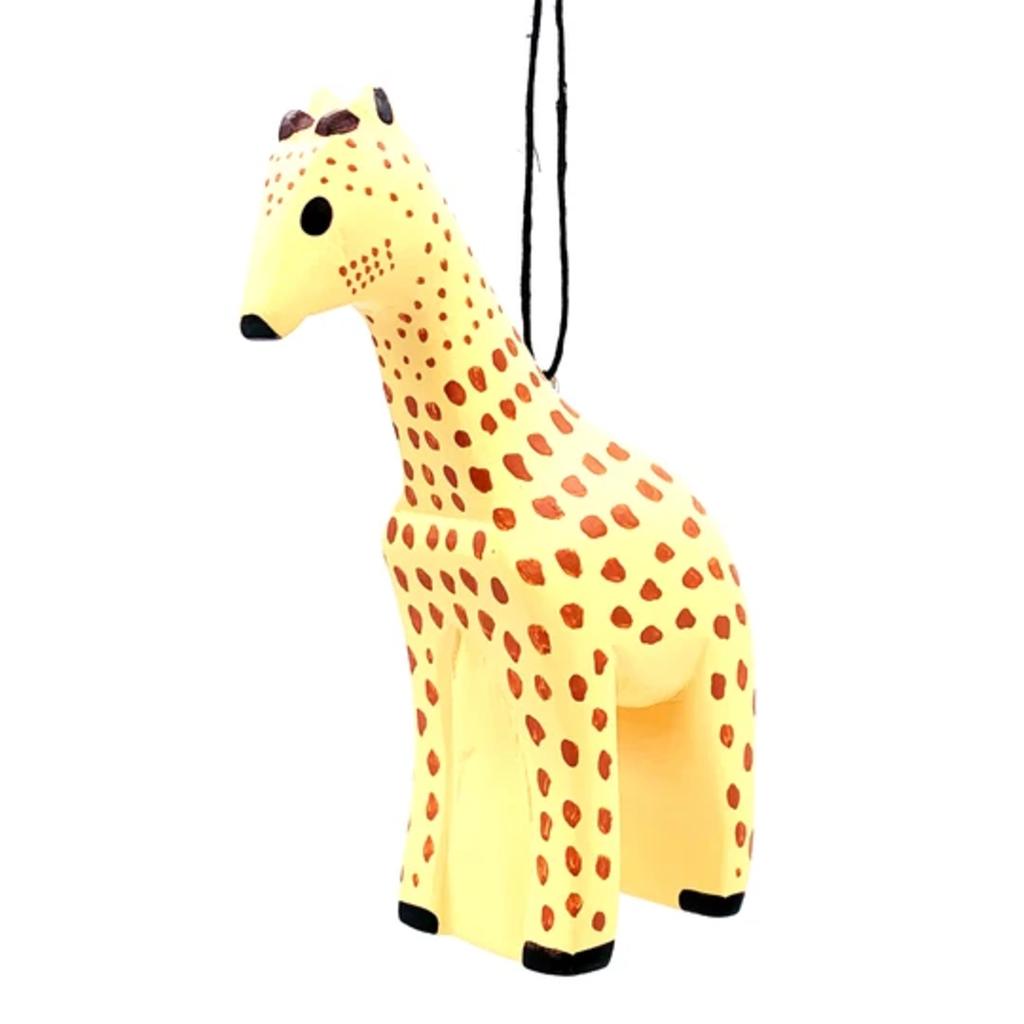 Women of the Cloud Forest Giraffe Balsa Wood Ornament