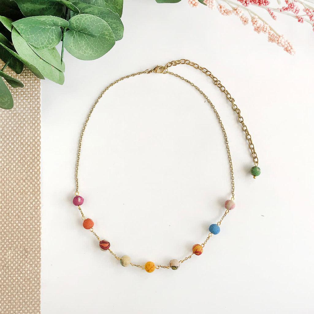 World Finds Cleo Kantha Necklace