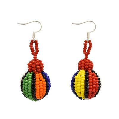 Unique Batik Cebolla Earrings: Rainbow