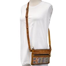 Unique Batik Comalapa Leather Bag