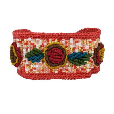 Unique Batik Rosita Bracelet: Red