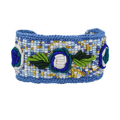 Unique Batik Rosita Bracelet: Blue