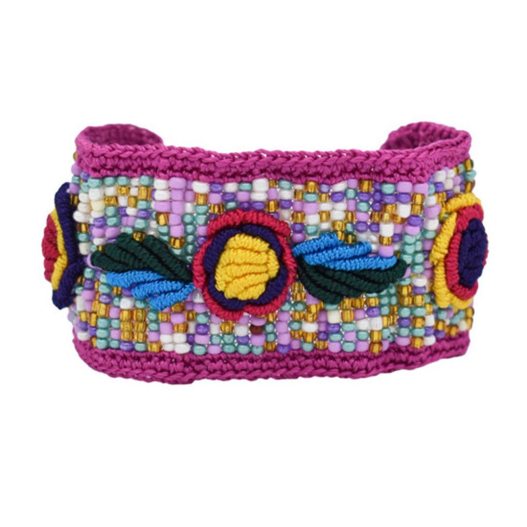 Unique Batik Rosita Bracelet: Lavender