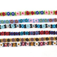 Lucia's Imports Beaded Flower Choker Necklace