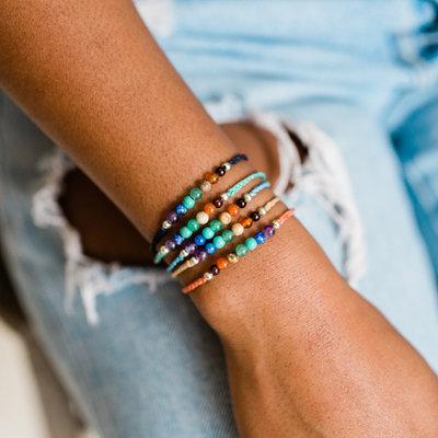 Lucia's Imports Chakra Stone Beaded Bracelet