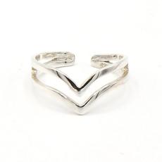 Fair Anita Double V Sterling Silver Ring