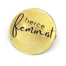 Fair Anita Fierce Feminist Round Pin