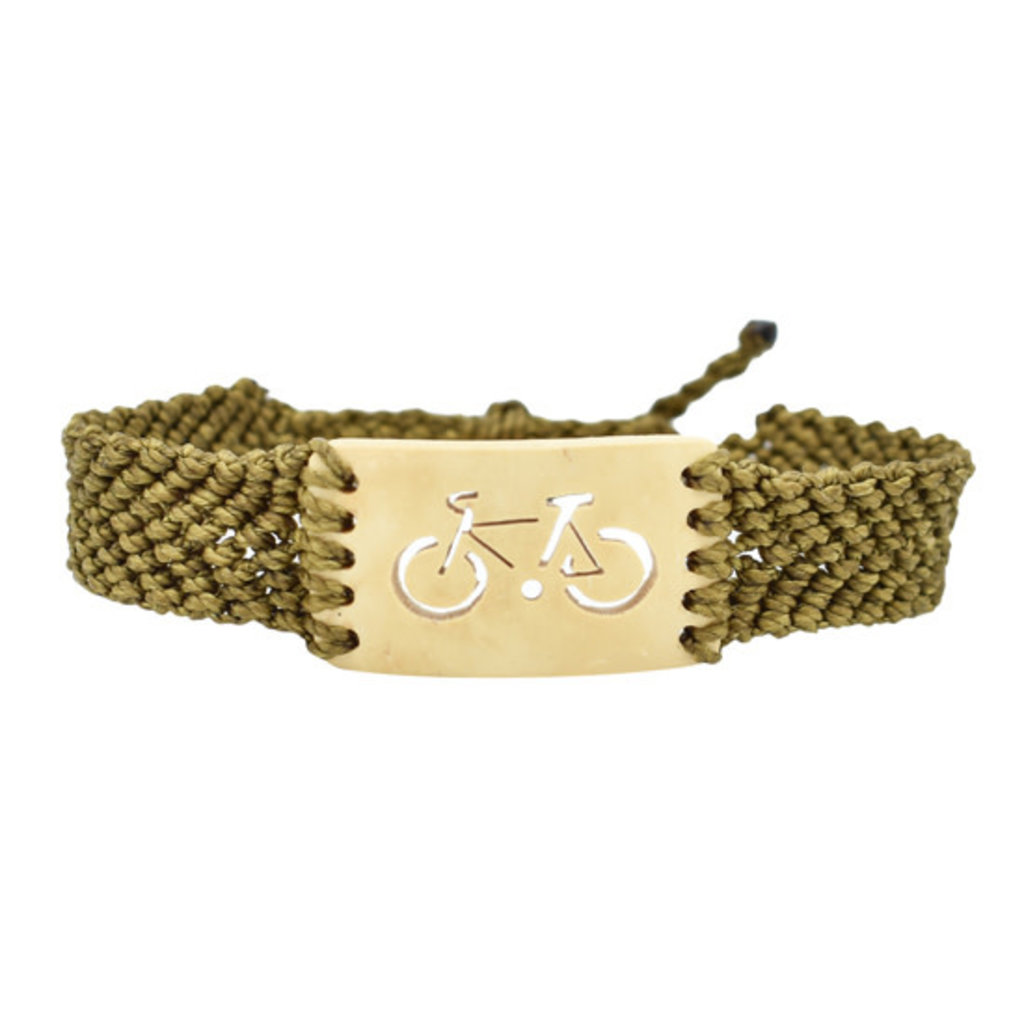 Unique Batik Coco Macrame Bike Bracelet