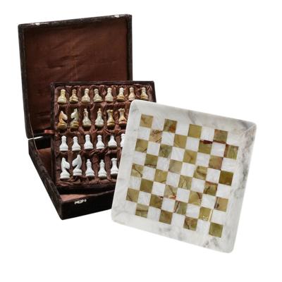 Ten Thousand Villages Onyx Chess Set