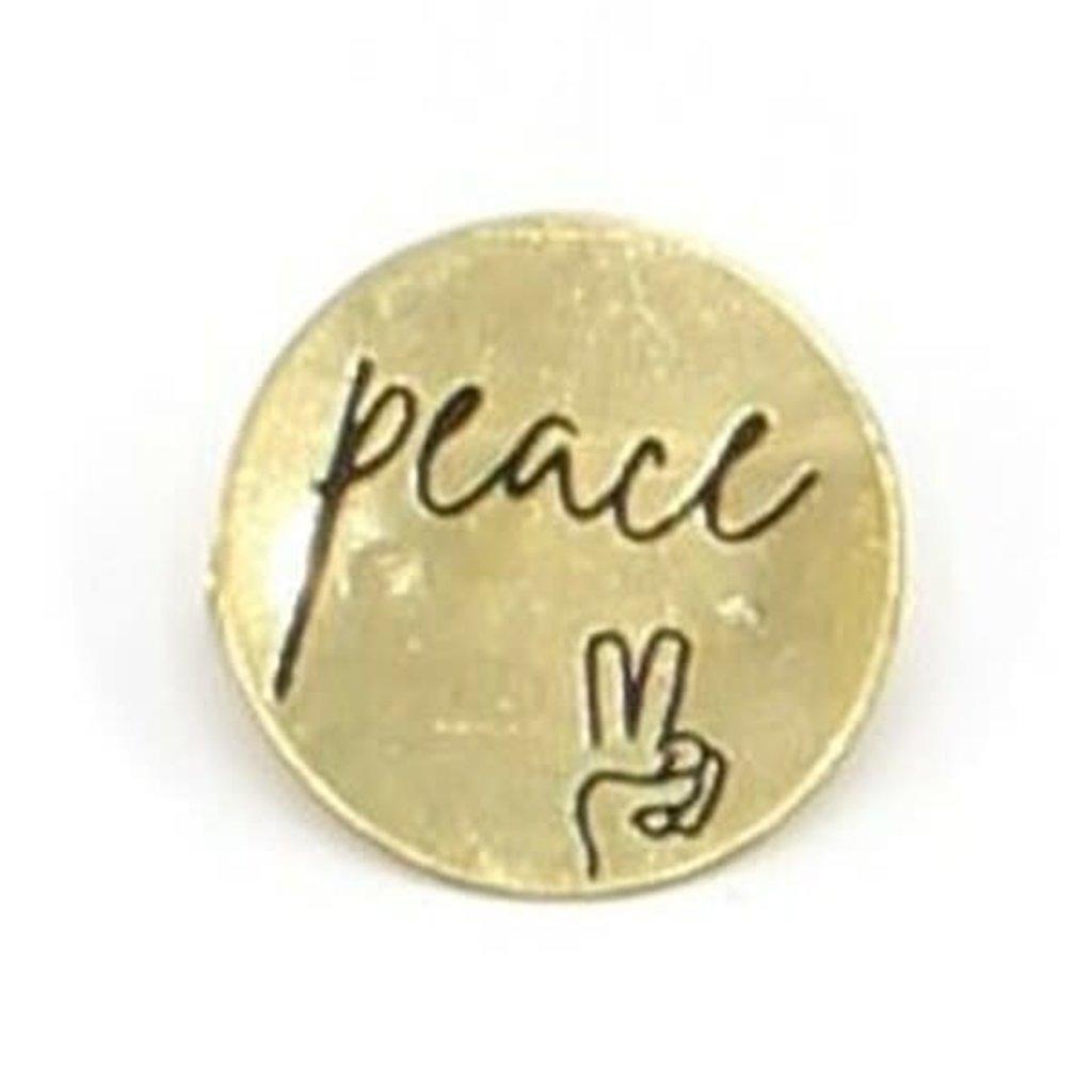 Fair Anita Peace Round Pin