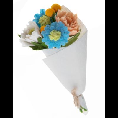 Silk Road Bazaar Peony Felted Wool Flower Bouquet