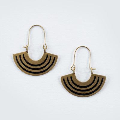 Mata Traders Petite Black Rainbow Earrings