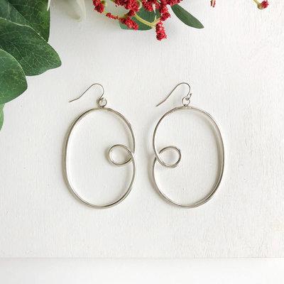 World Finds Sculptural Loop Silver Earrings