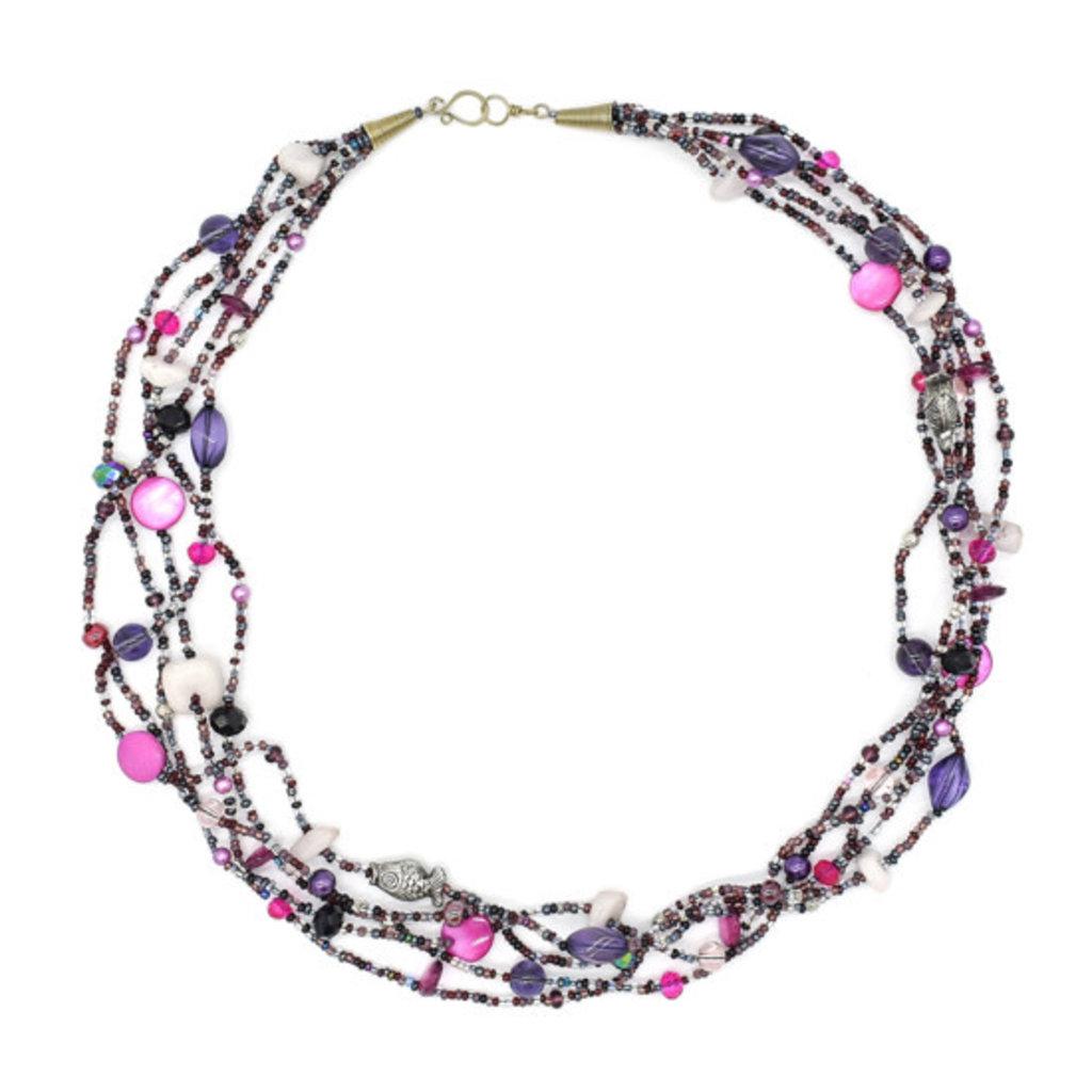 Unique Batik Seashore Necklace