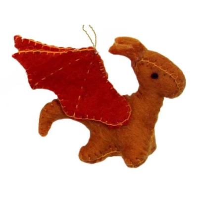 Global Crafts Sun Dragon Felt Ornament