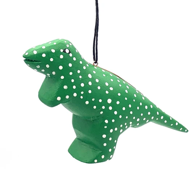 Women of the Cloud Forest Whimsical T-Rex Balsa Wood Ornament