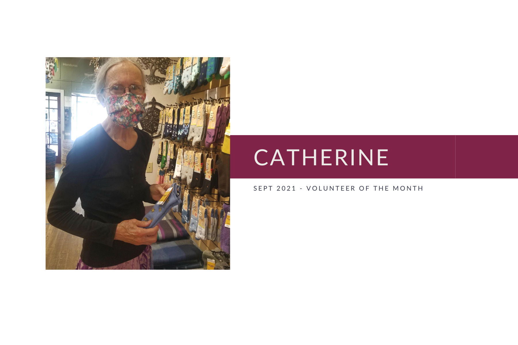 Meet Catherine: Volunteer of the Month (September 2021)