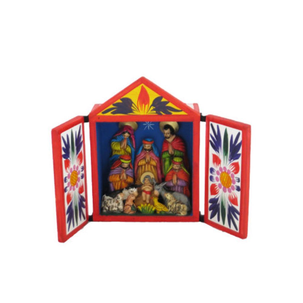 Inter-American Trading Traditional Retablo Nativity Large