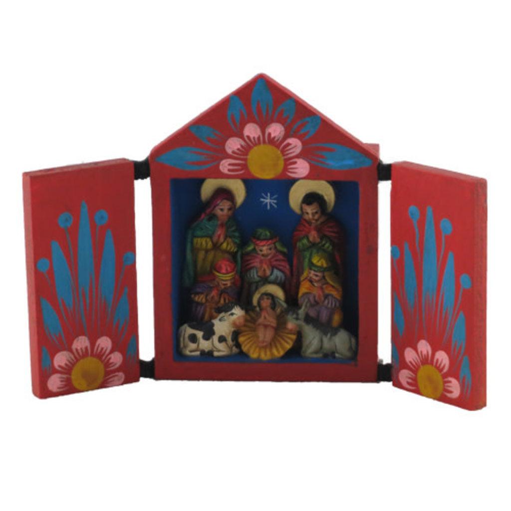 Inter-American Trading Traditional Retablo Nativity Medium