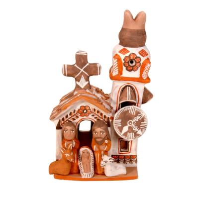 Lucuma Mini Ceramic Church Nativity