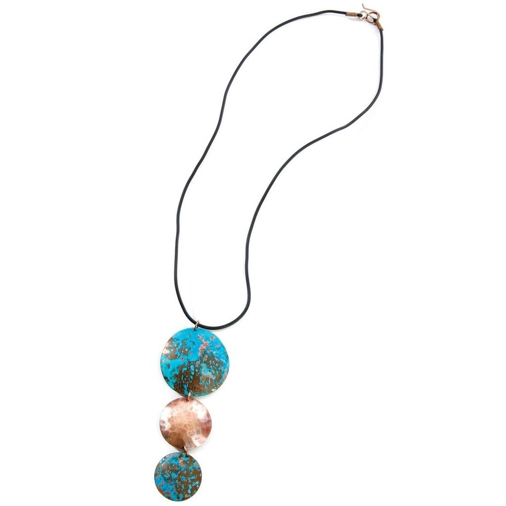 Swahili Imports Viridian Triplet Copper Necklace