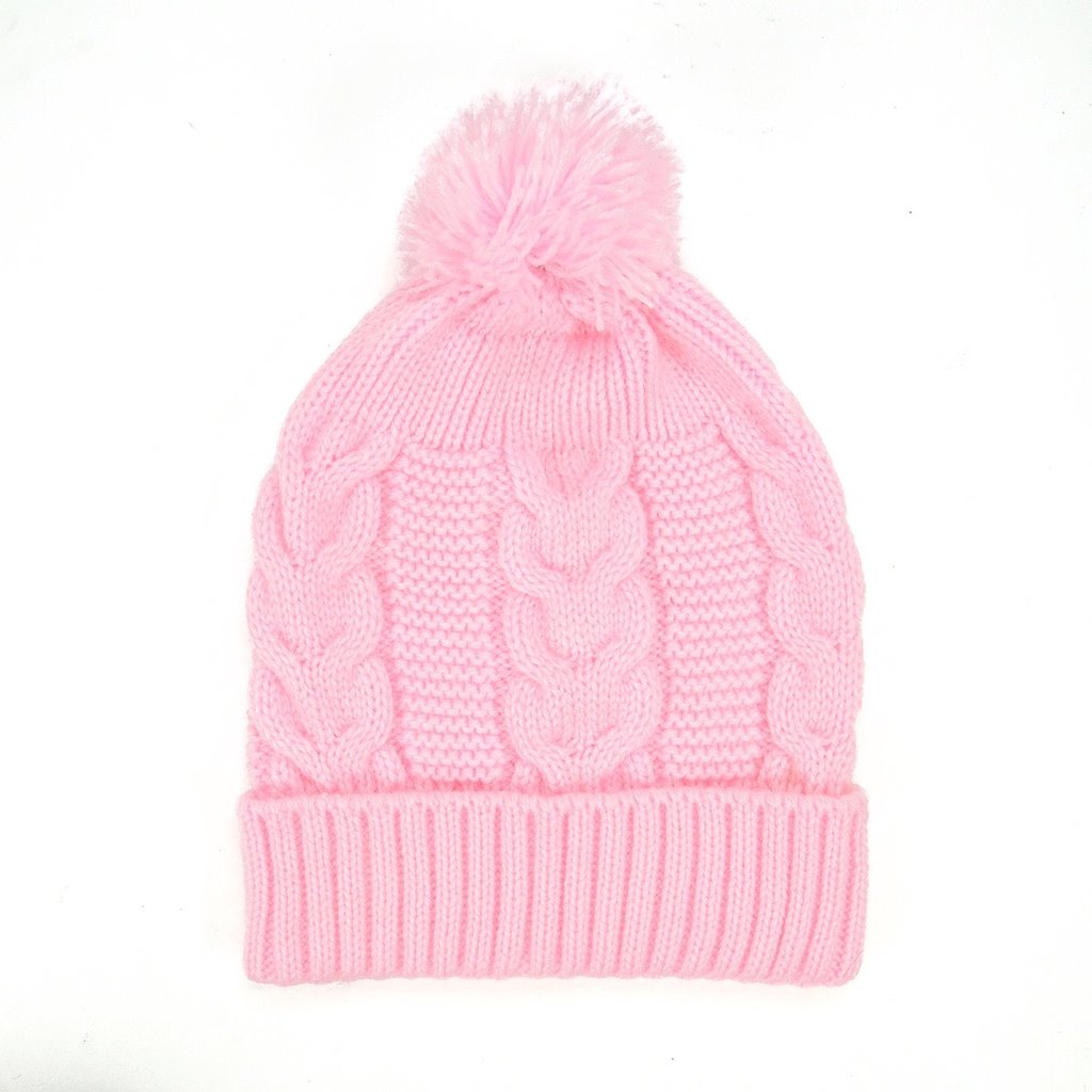 Minga Imports Harlow Knit Hat Light Pink