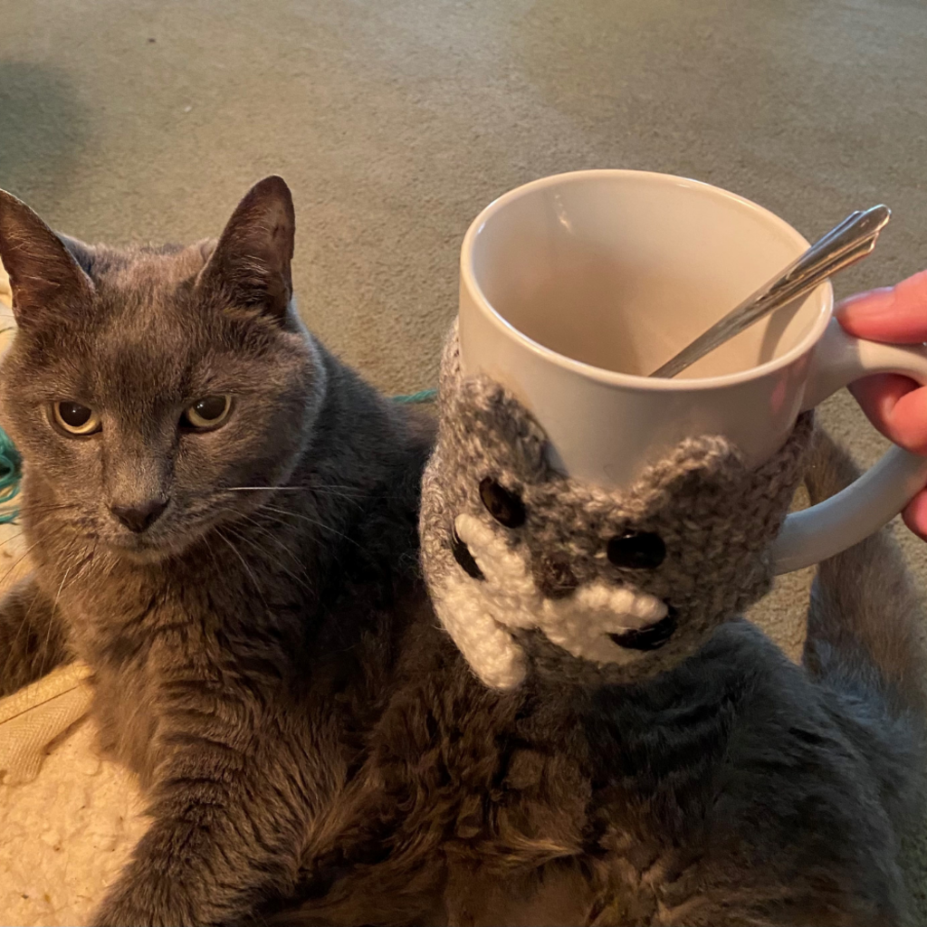 Andes Gifts Animal Cup Cozies: Cat