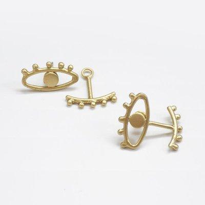 Mata Traders Eye to Eye Gold Earrings